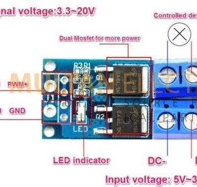 15A 400W MOSFET Trigger Module