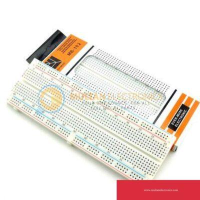 Breadboard 830 points Dual Power Rail MB102