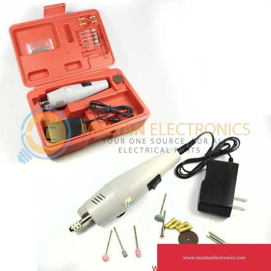 Mini Electric Drill Machine Grinder Rotating Tool, Hand Drill Driver Rotary Set Kit in Pakistan