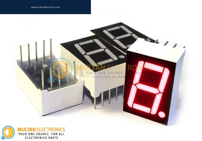 1 Digit Seven 7 Segment Display (Cathode & Anode)