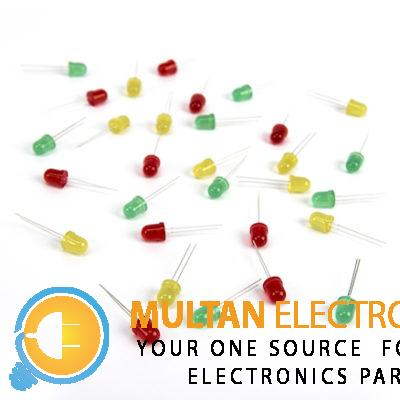 5mm Red Green Yellow 2 Pin LEDs Light Emitting Diodes