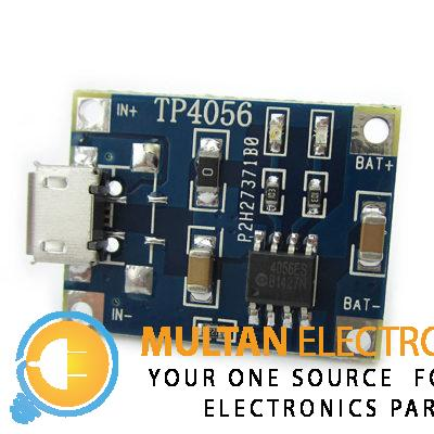 Highlights 3.7V lithium battery charger module based on TP1056 with Micro USB interface Small and light weight, especially for a single lithium battery charging Specification General Model TP4056 Quantity 1 Piece Specification Input Voltage 4.5V ~ 5.5V Input Interface Micro USB port (phone used) Charging Method linear charge Full Charge Voltage 4.2V Charge Current 1A (default), modify the onboard resistor to adjust the charging current according to the table below Charging Accuracy 1.5% Charging Indicator Blue LED:charging,red LED:full Output Reverse Lithium batteries can not reverse Dimensions & Weight (Main Product) Dimension 25*19*10mm Package Contents 1x Micro Battery Charger Module Adjust Charge Current RPROG (k) IBAT (mA) 30 50 20 70 10 130 5 250 4 300 3 400 2 580 1.5 780 1.2 1000 TP4056 1A 3.7V Lipo Battery Charging Board Charger Module DIY Micro USB InterfaceTP4056 1A 3.7V Lipo Battery Charging Board Charger Module DIY Micro USB InterfaceTP4056 1A 3.7V Lipo Battery Charging Board Charger Module DIY Micro USB Interface