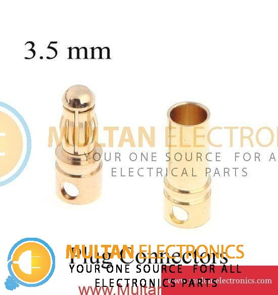 Bullet Connector Set - 3.5mm Male-Female for Brushless Motor & ESC