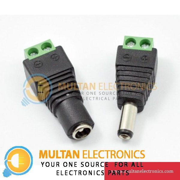 DC Barrel Power Jack Adapter Connector Screw Terminal Male + Female