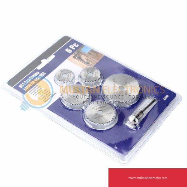 6 Pieces HSS Mini Circular Saw Blades Cutting Disc Mini Drill