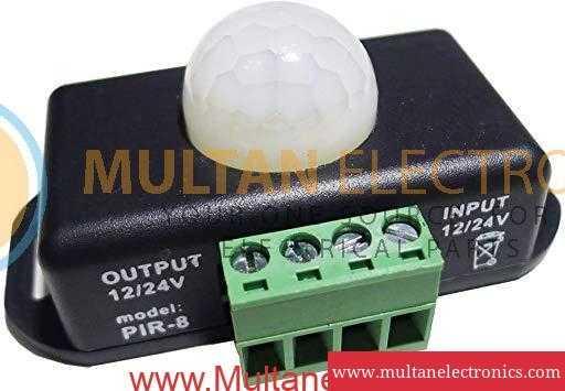 PIR motion sensor for 12 to 24 Volt DC