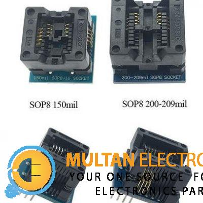 SOIC8 SOP8 Socket 150ml to DIP8 and 200-209ml