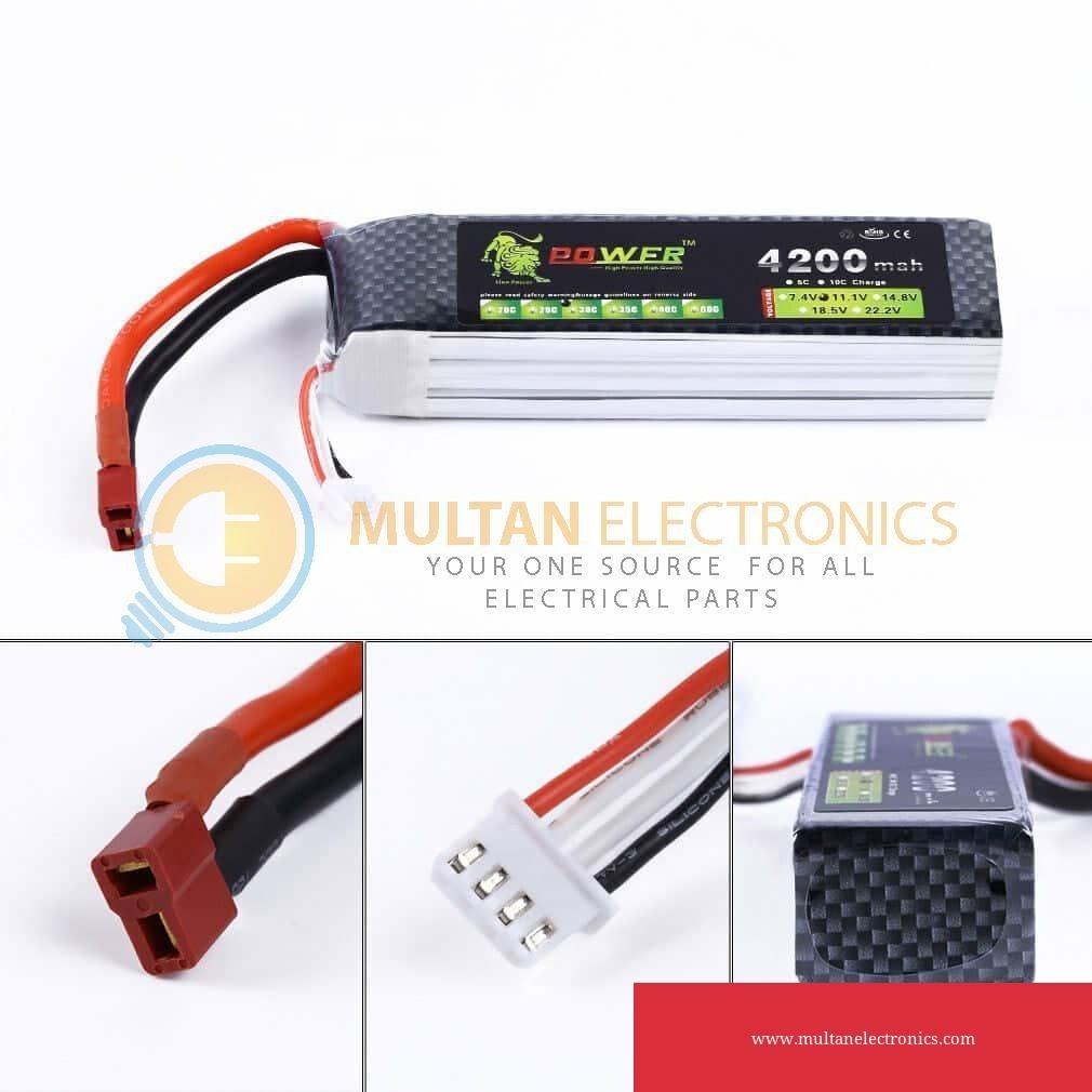 11.1V 3S 4200mAh 35C LiPO Battery Deans T-plug RC Model