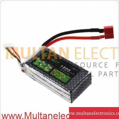 11.1V 3S 1500mAh 40C LiPO Battery T plug Burst 80C RC Model
