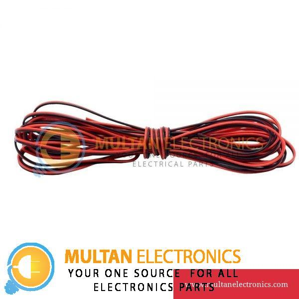 Red Black Thinned Copper Wire 1 Yard