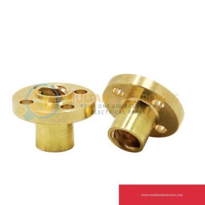 T8 Brass Screw Nut 8mm 2mm Pitch For Lead Screw