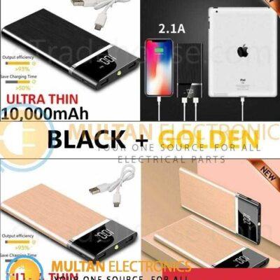 10,000mAH Dual USB Port Ultra-Thin Power Bank Pack