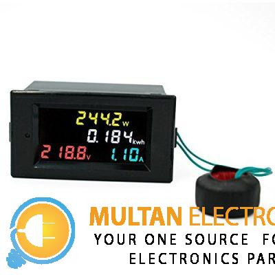 450V 100A Three Phase 4 in 1 AC Voltmeter Ammeter Power Energy Meter Kwh Color Screen LED Display Single Three Phase