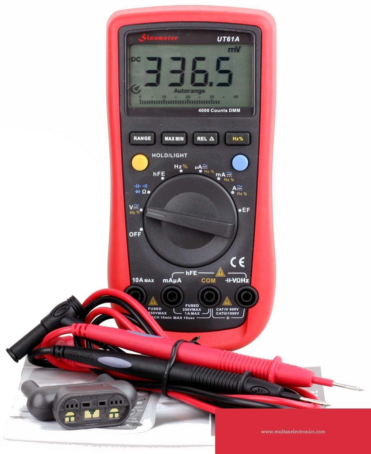 UT61A Auto-ranging AC/DC Digital Multimeter