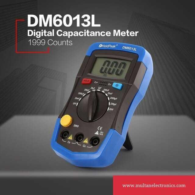 DM6013L Handheld capacimetro Digital Capacitor Tester Capacitance Meter 1999 counts electronic diagnostic-tool w/ LCD Backlight