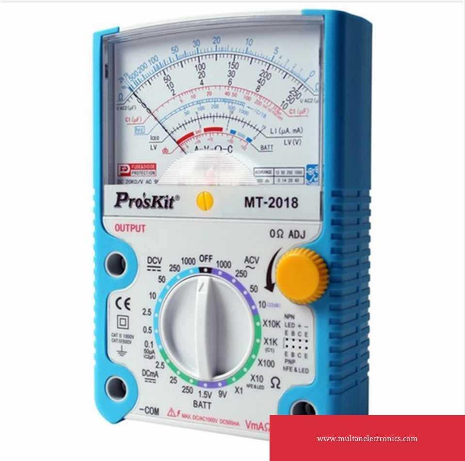 Pro'skit MT-2017 MT-2018 Protective Function Analog Multimeter Ohm Test Meter DC AC Voltage Current Resistance Analog Multimeter