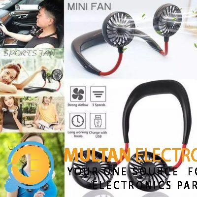 USB Portable Fan Hands-free Neck Fan Hanging Charging Mini Portable Sports Fans 3 gears Usb Air Cond