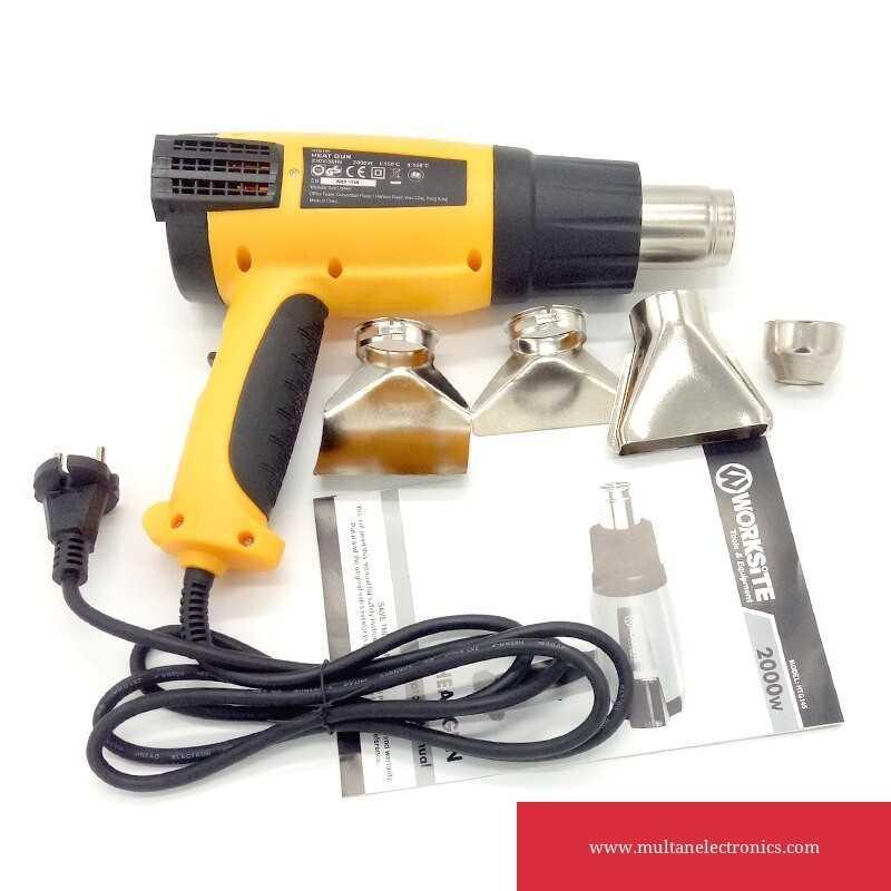 Worksitetools HTG145 Dual Temperature 2000W Heat Gun Soldering Iron