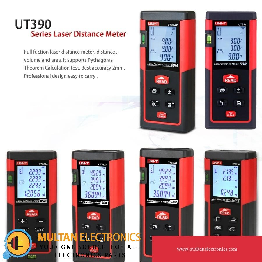 UNI-T UT390B+/ UT391+ Laser Distance Meters 40m 60m Rangefinder,Area Volume Continuous Measrement Data Add