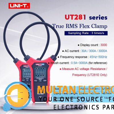 UNI-T UT281A & UT281C True RMS Clamp Ammeter Digital Flexible Clamp Meter Multimeter Multipurpose