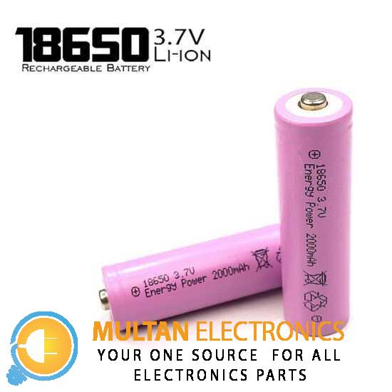 2000mah 18650 Rechargeable Battery
