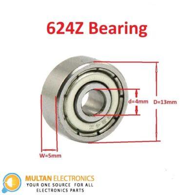 624Z Bearing 4x13x5mm Double Shielded 624Z Deep Groove Ball Bearing